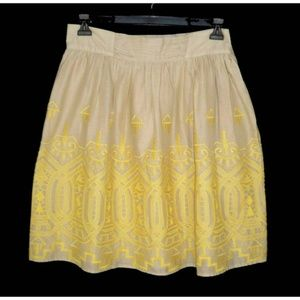 Tiny Anthropologie L Sun Stitched Full Skirt